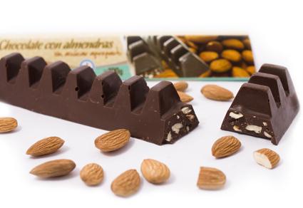 Barra de chocolate semiamargo con Almendras - Murke